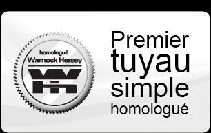 Tuyaux Aston - Premier tuyau simple homologué